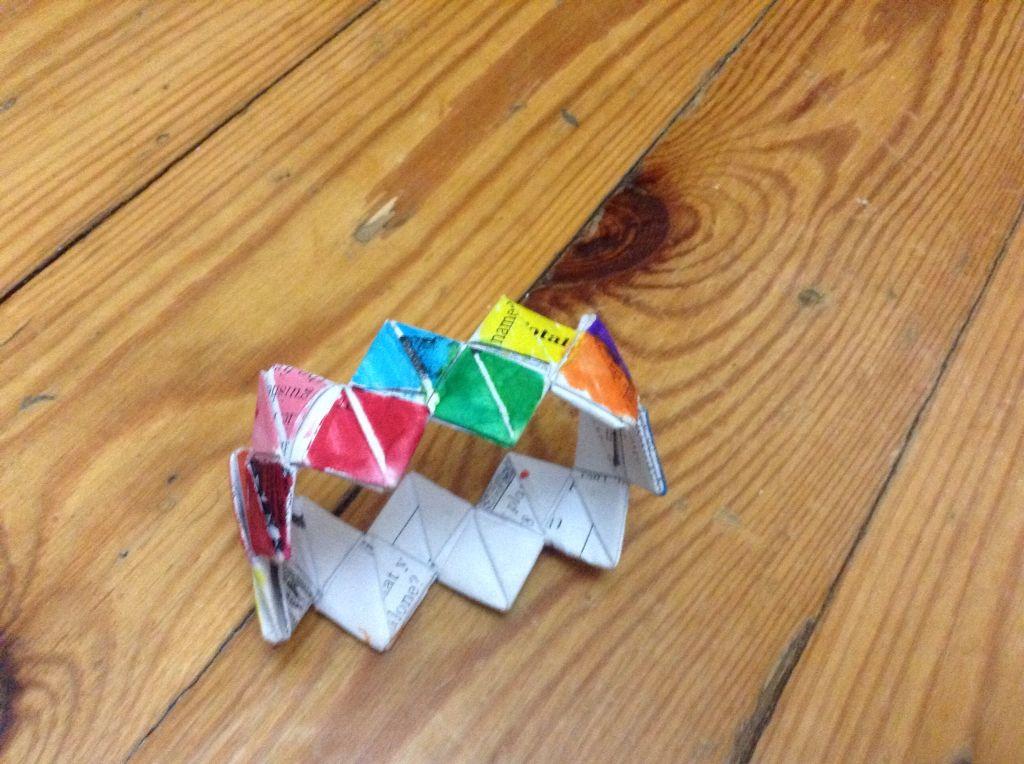 My version of the folded paper bracelet
