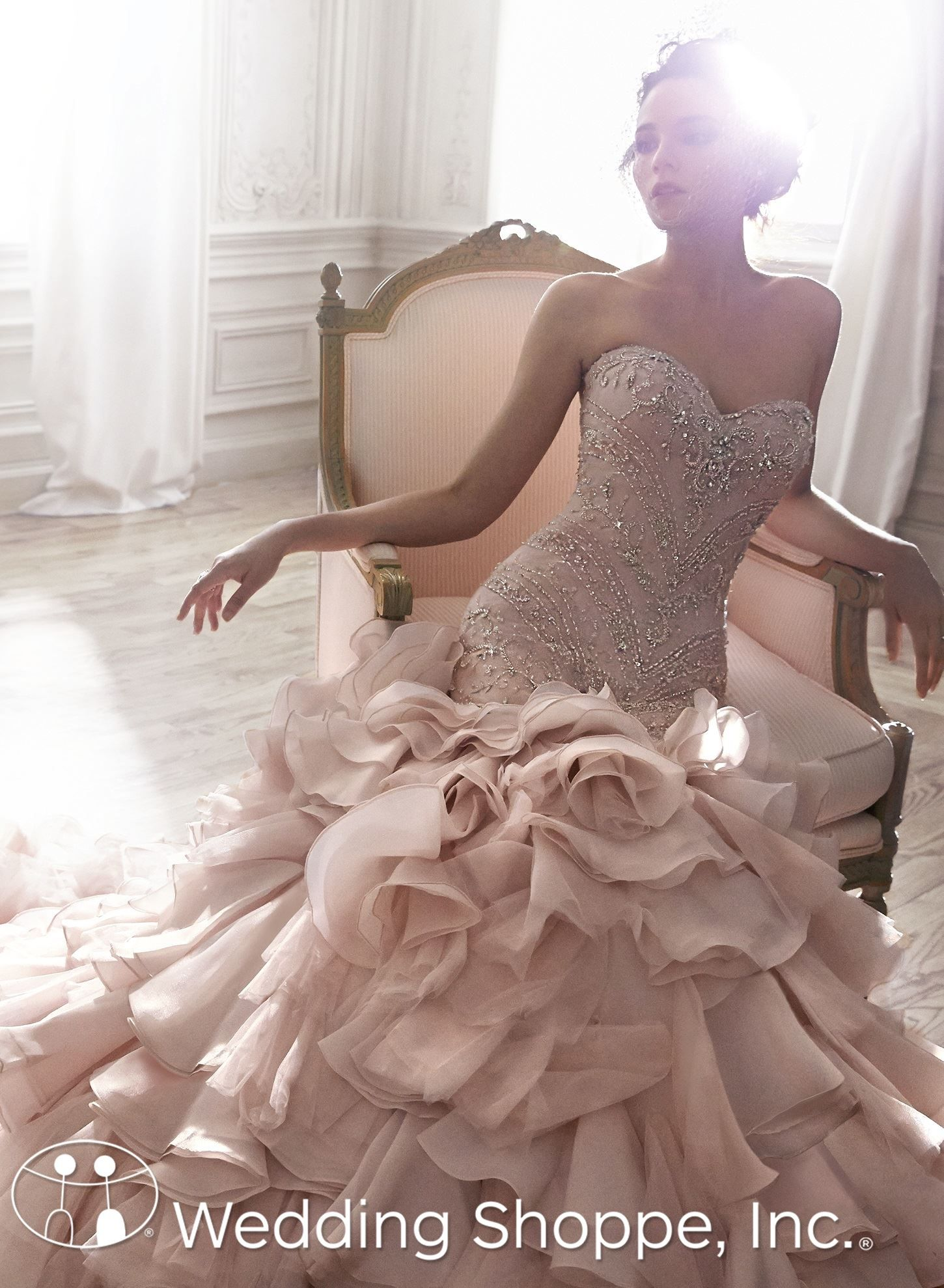 Discontinued Product Pink Wedding Dresses Maggie Sottero