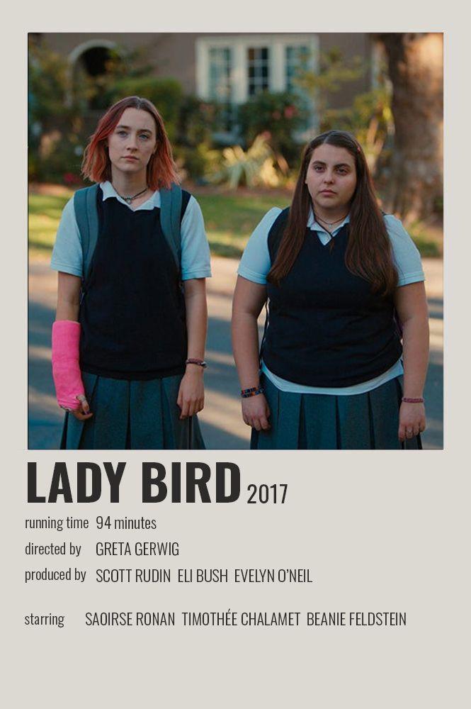 Lady Bird Polaroid Poster Film Posters Minimalist Movie Posters Vintage Film Posters Vintage