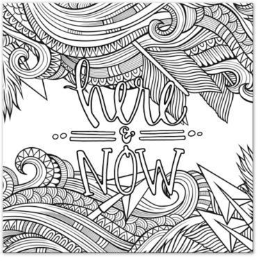 Here And Now Custom Coloring Canvas Wall Art Coloring Canvas Animal Coloring Pages Free Adult Coloring Pages