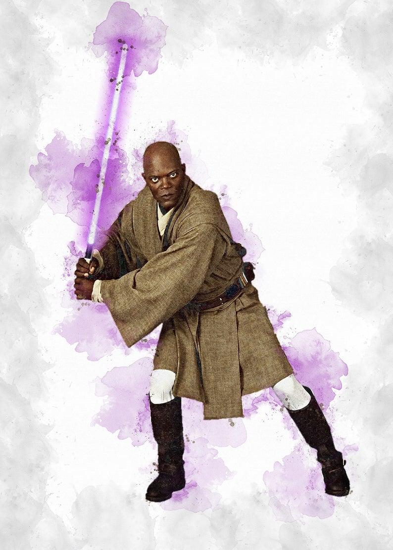 Mace Windu Mace Windu Poster Mace Windu Digital Star Etsy In 2021 Star Wars Poster Star Wars Wallpaper Mace Windu