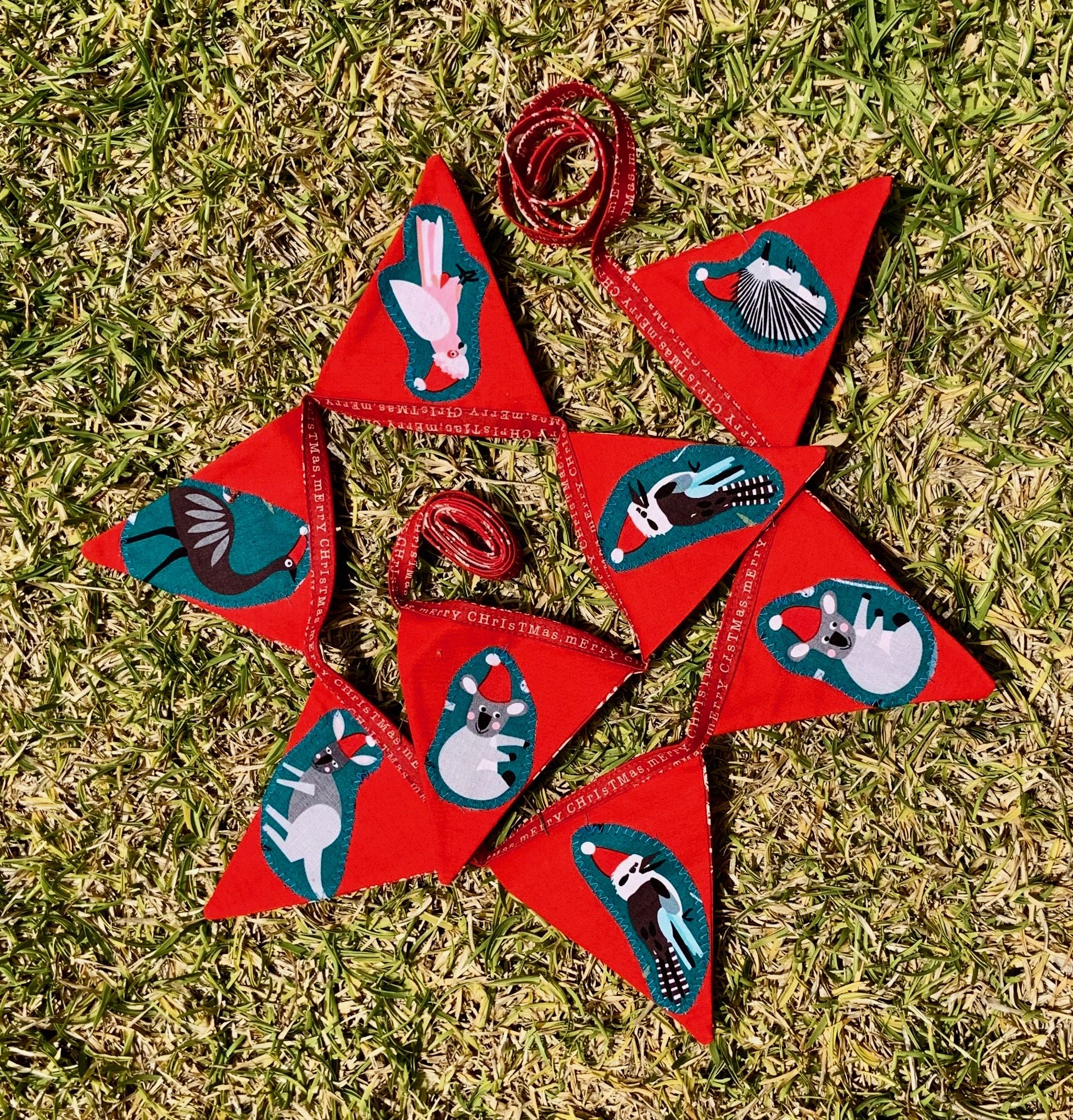 Handmade Australian Christmas Decoration Bunting I Just
