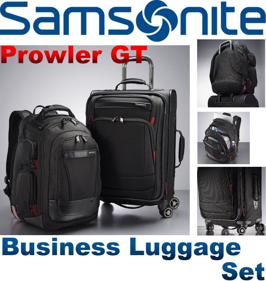 Samsonite Prowler Gt 2 Piece Business Luggage Set Backpack Carry