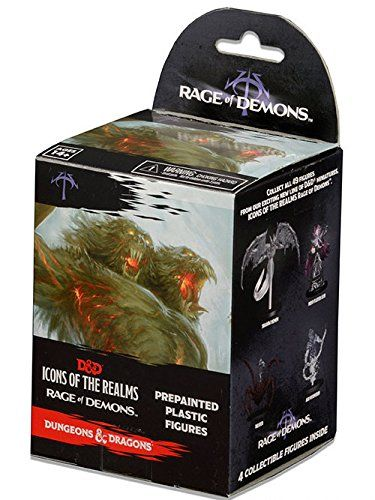 Dungeons & Dragons – D&D – Icons of the Realms: Rage of Demons Sealed Booster Brick (8 Booster Packs) Miniatures Figures