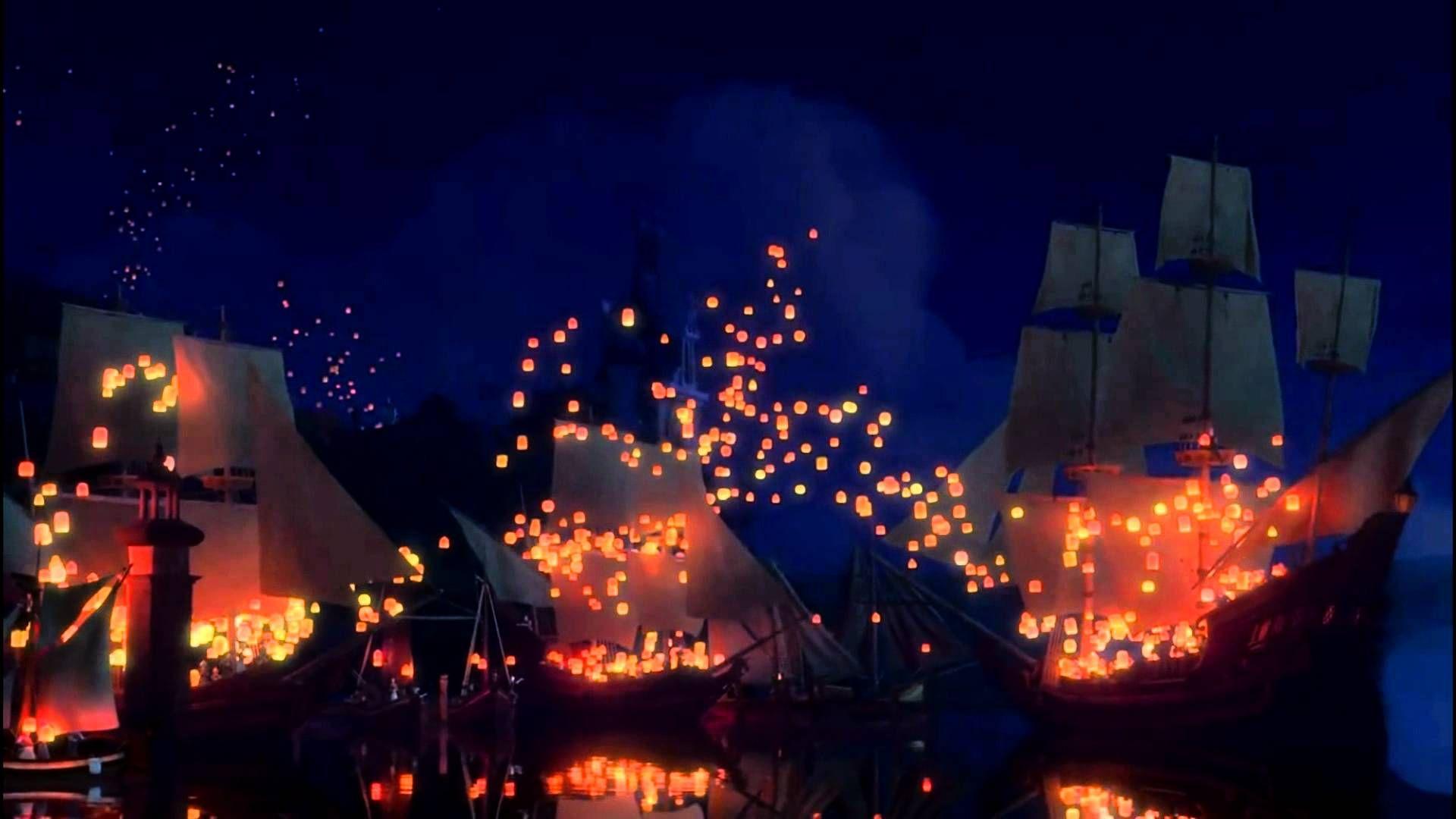 disney 30 day challenge day 29, favorite overall scene: the ... for Lantern Festival Tangled  143gtk