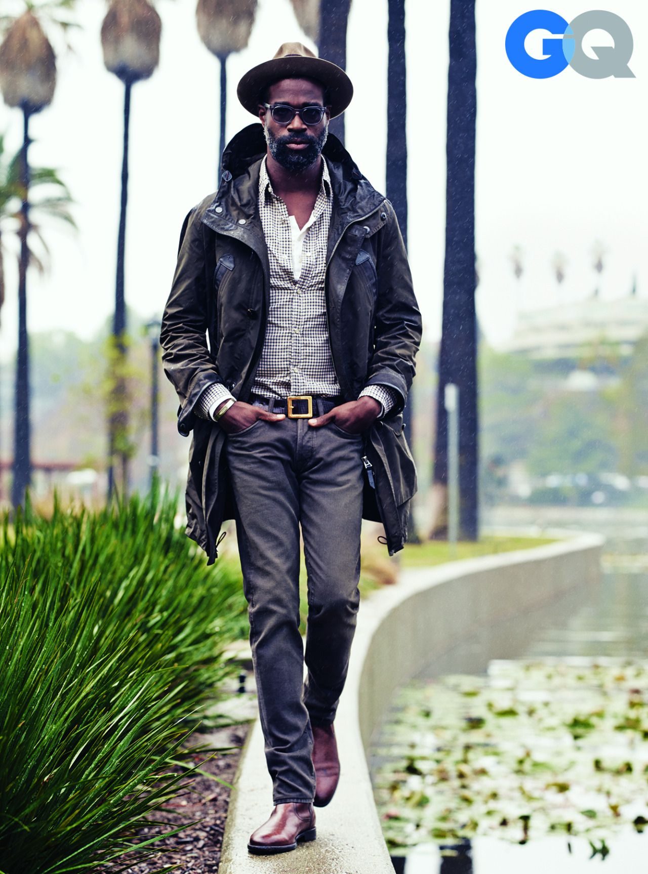 Mens leather gloves gq - Gq Tv On The Radio S Tunde Adebimpe Wears This Spring S Best Rain Gear Well Helloooooo There
