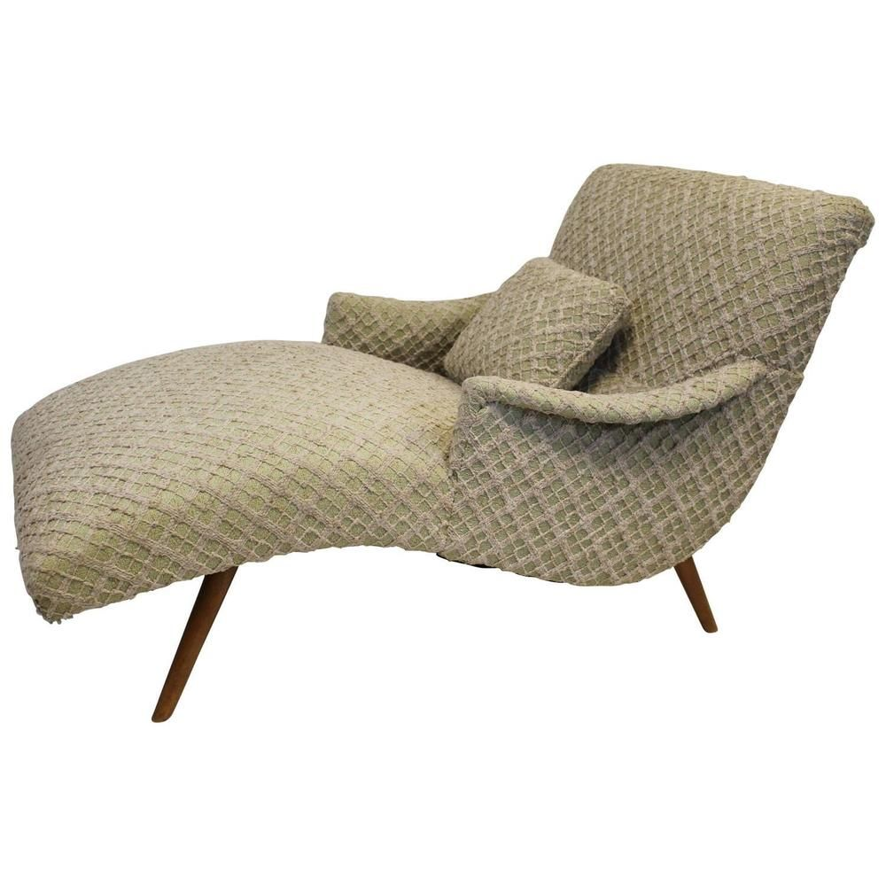 Mid Century Modern Adrian Pearsall Style Chaise Lounge Chair Mid