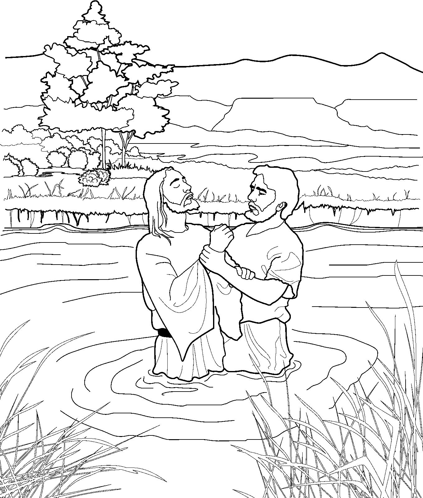 John the Baptist coloring page for kids from ldsorg ldsprimary
