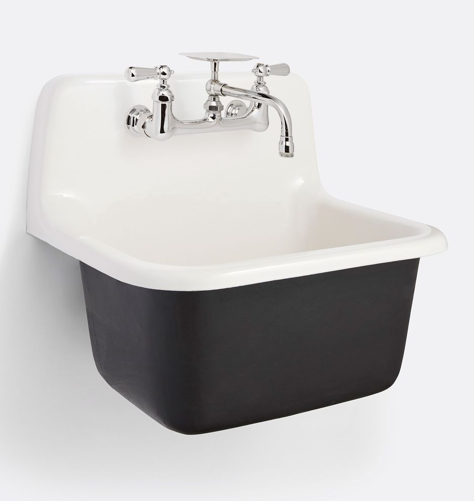 Grizzly Cast Iron Utility Sink With Drain Laundry Room Sink