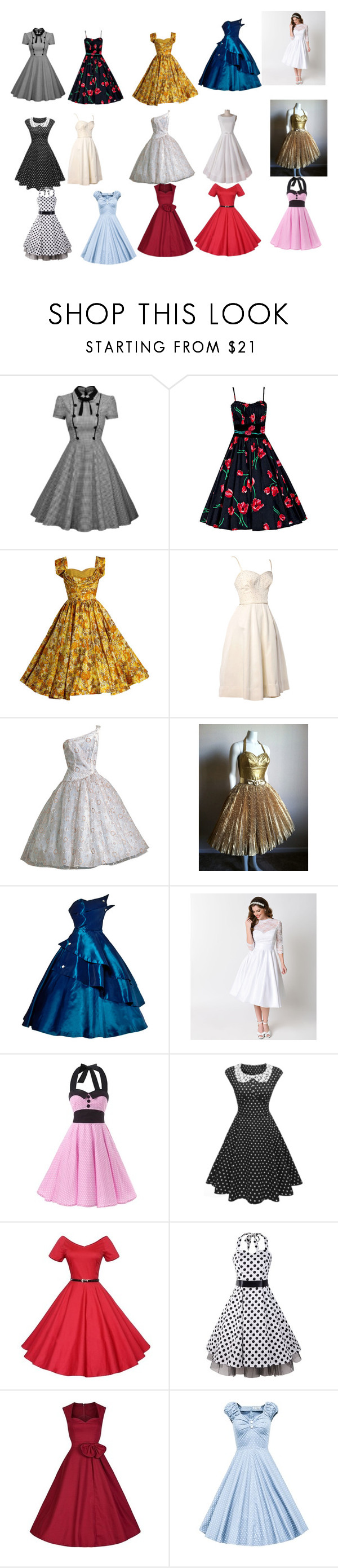 """""""vintage dresses"""" by hopehhlove on Polyvore featuring Heart of Haute and vintage"""