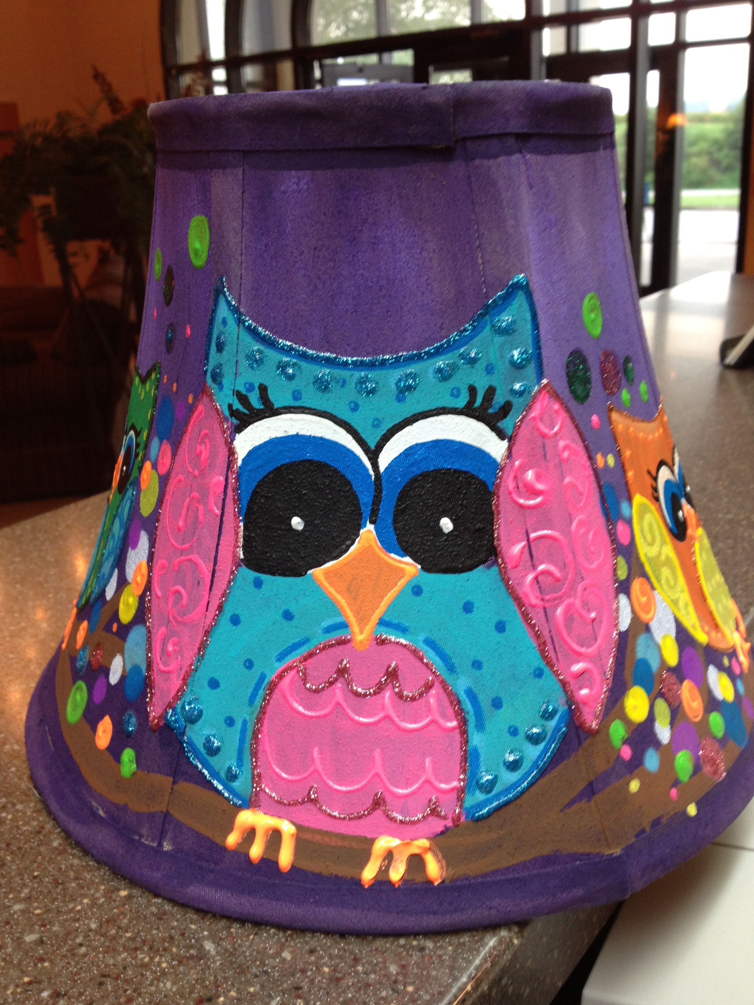 Lampshades i have painted for classrooms painted