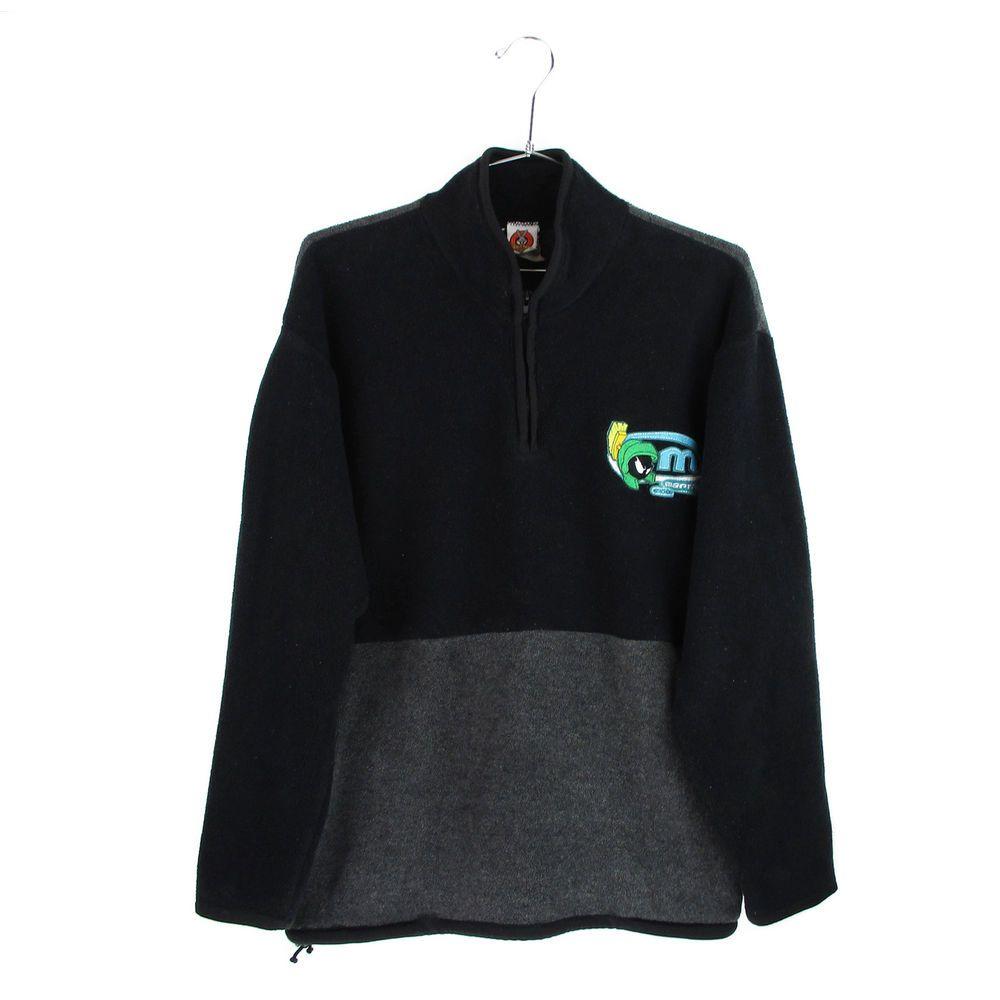 Vintage marvin the martian fleece jacket mens size large l s
