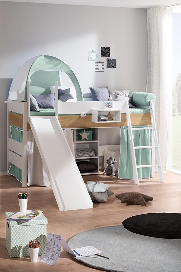 Hochbett Kinder Paidi Kira : hochbett, kinder, paidi, Children's, Rooms, Spielbett,, Kinderbett, Rutsche,