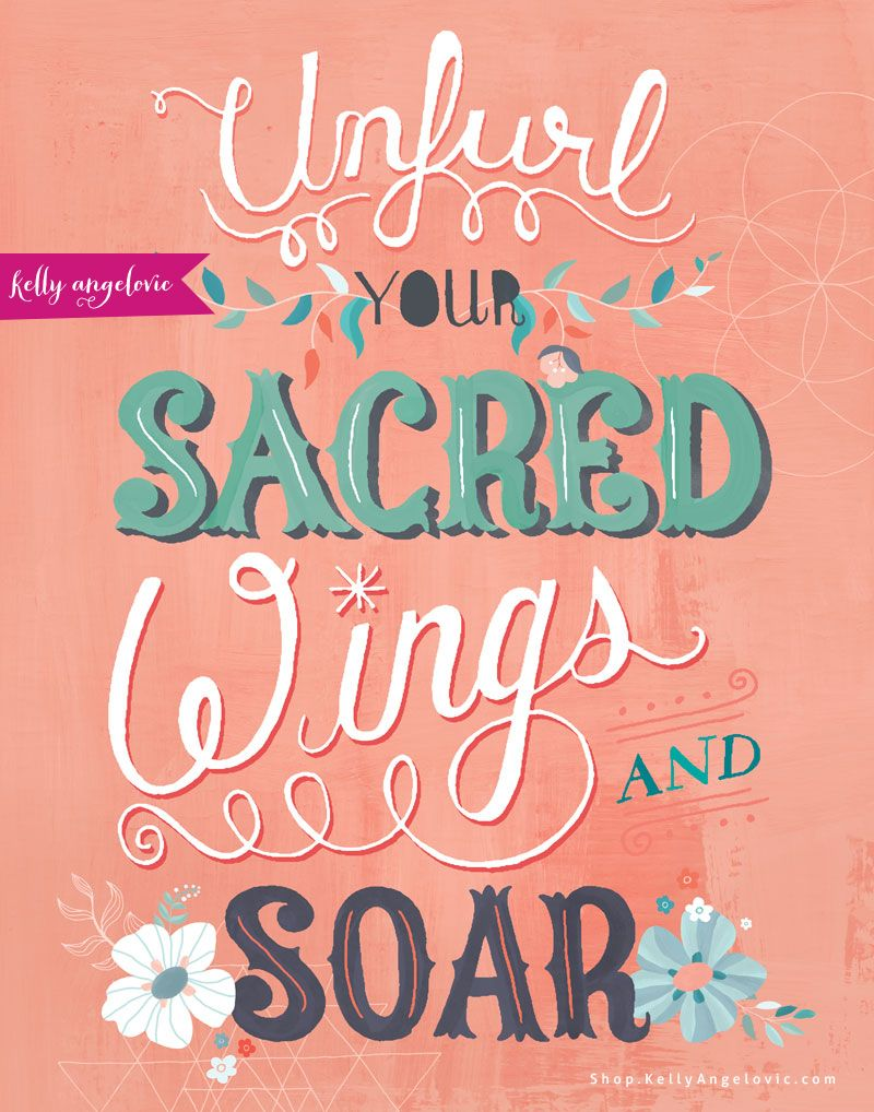 This inspirational greeting card features the hand lettered phrase Unfurl Your Sacred Wings and Soar. I created this collection for the goddess in YOU. As I follow the whispers of my heart, my dream is to inspire you to do the same. Printed on 100% recycled paper.