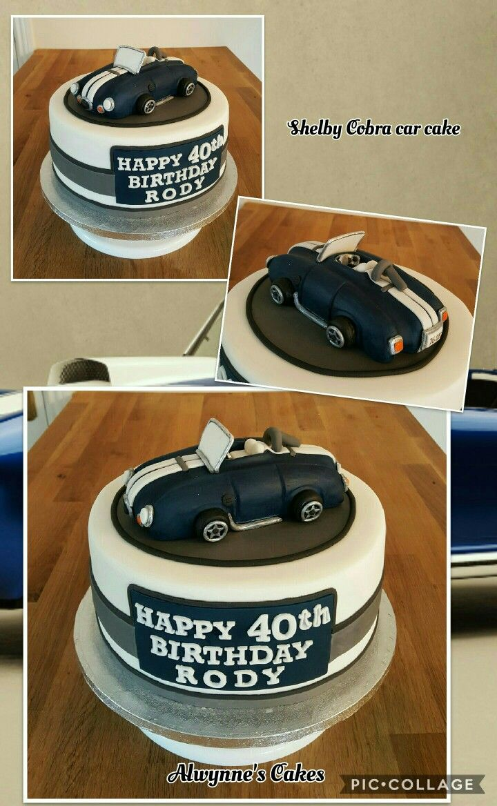 Shelby Cobra Car Cake celebration cakes Pinterest Car cakes