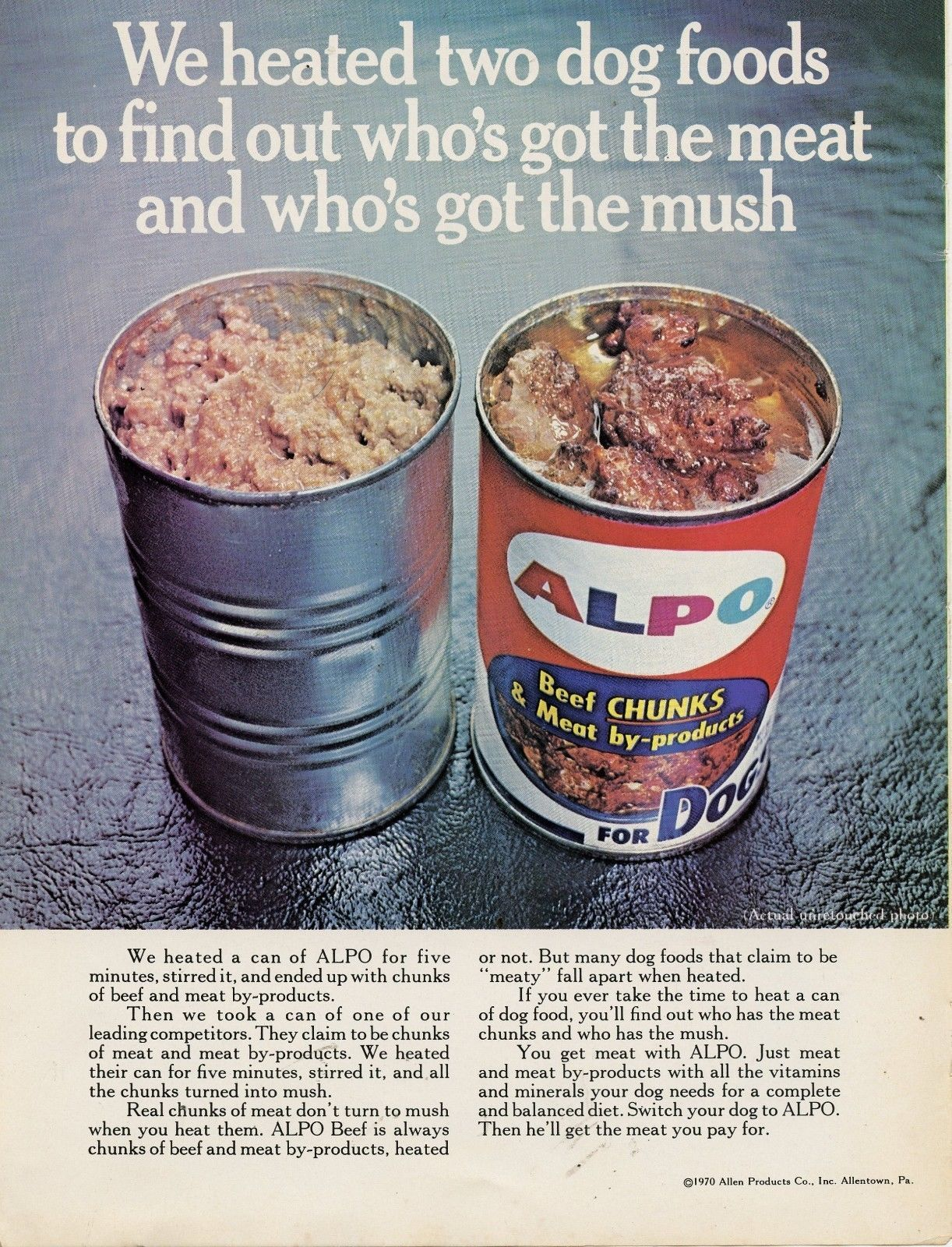 Alpo Dog Food, 1970 | Dog food recipes, Food, Alpo dog food