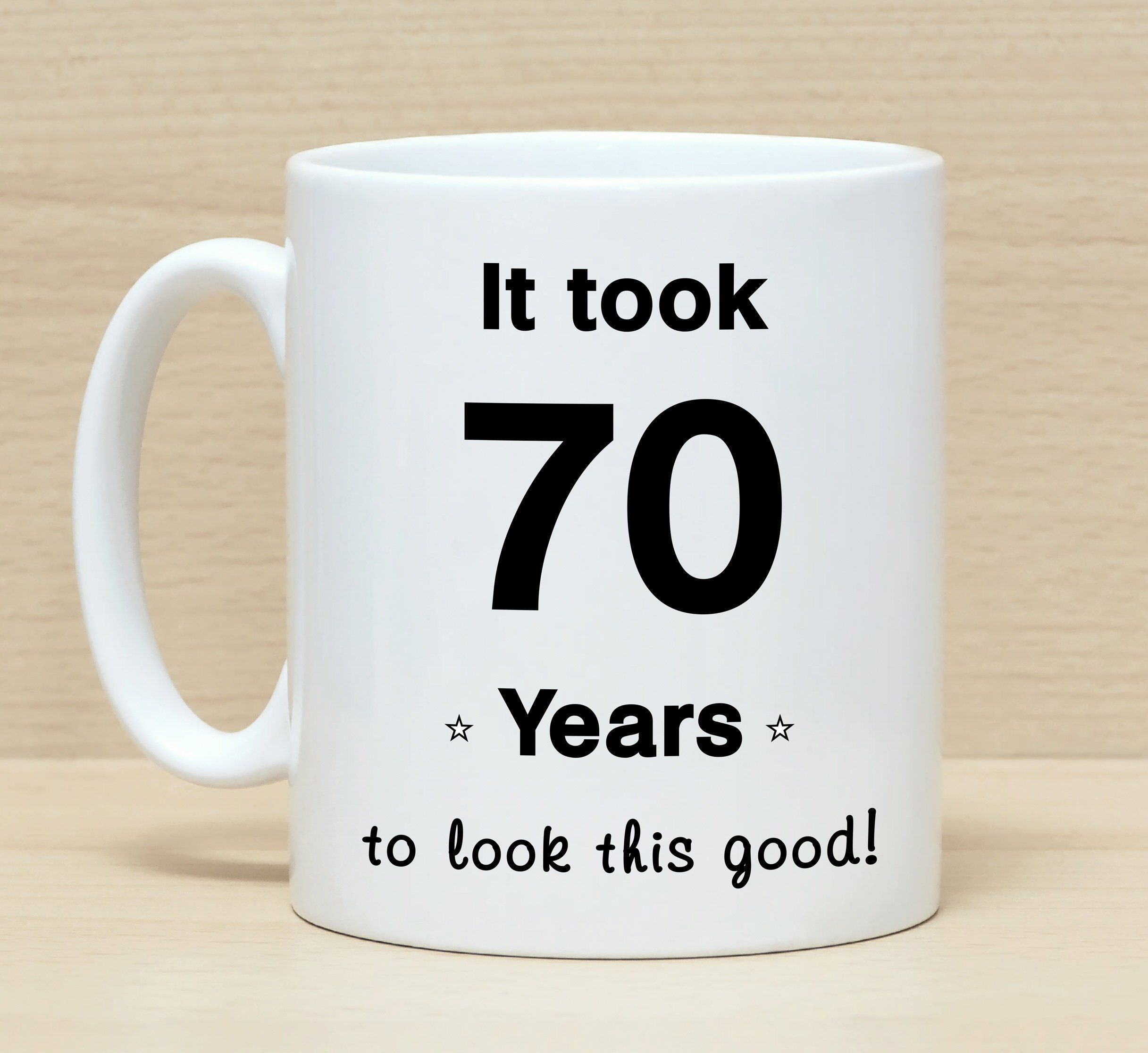 70th Birthday Mug Gift Mugs GiftFunny For Men Women Funny By SuburbanCottageUK
