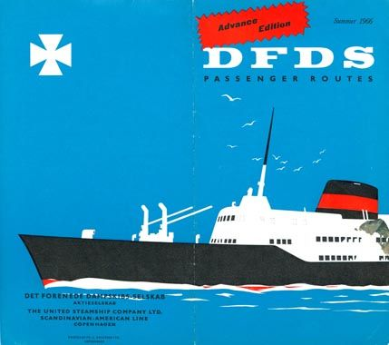 Dfds Seaways Det Forenede Dampskibs Selskab United Steamship Co Scandinavian Seaways Ship Poster Maritime Poster Travel Posters