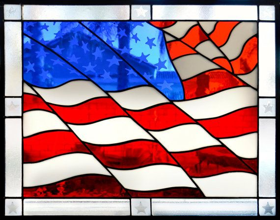 01029e01b262 Stained Glass American Flag