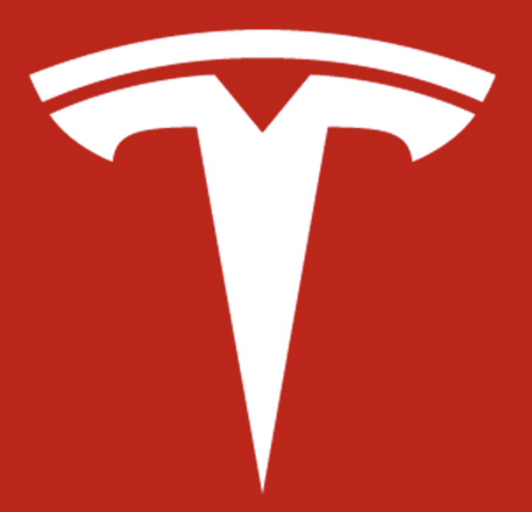 The Tesla logo is very unique, recognizable and