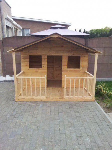Como hacer una casita de madera con palets casa de - Como hacer casitas de madera para ninos ...