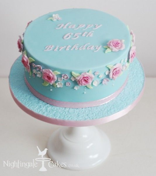 Palebluecakeflowers Cakes Pinterest Blue Cakes Cake - Blue cake birthday