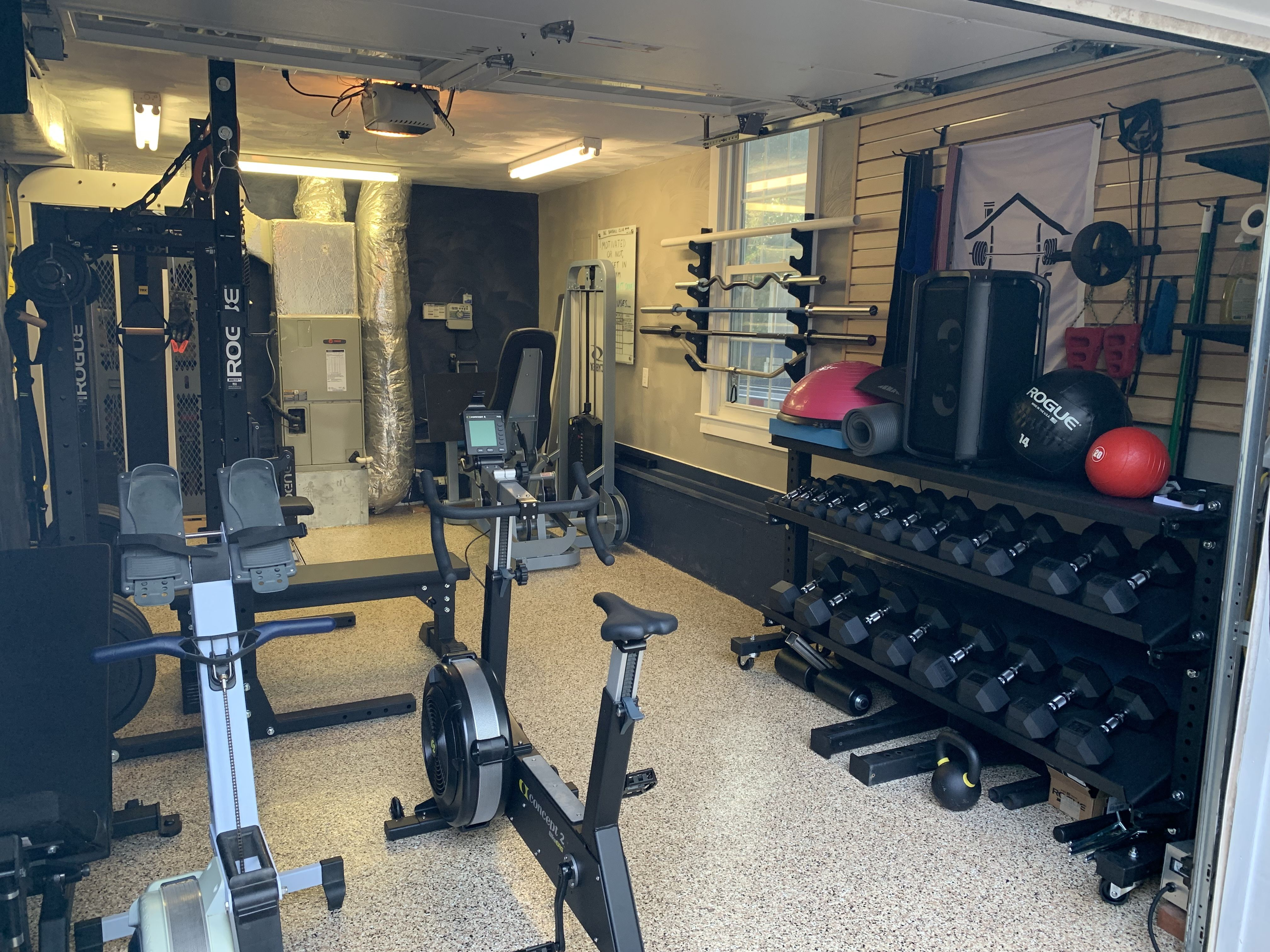 1 Car Garage Gym Gym Room At Home Home Gym Garage Garage Gym