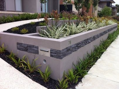 Absolutely Gorgeous Rendered Retaining Wall With Images