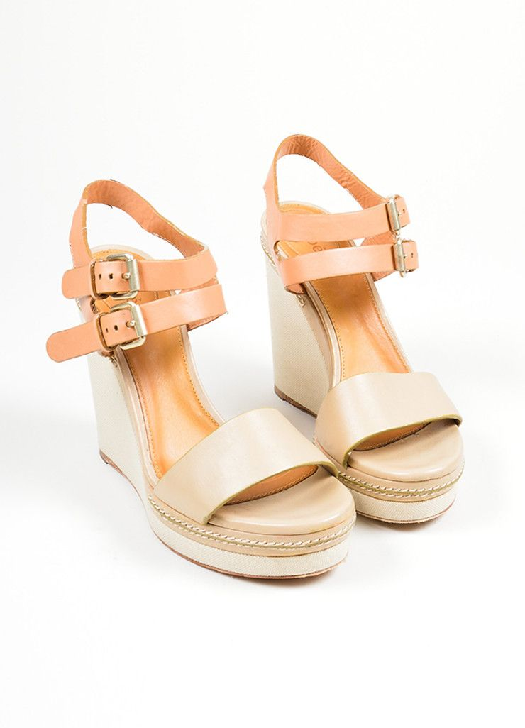 1e6ade71a072 Taupe Chloe Leather and Canvas Sandal Platform