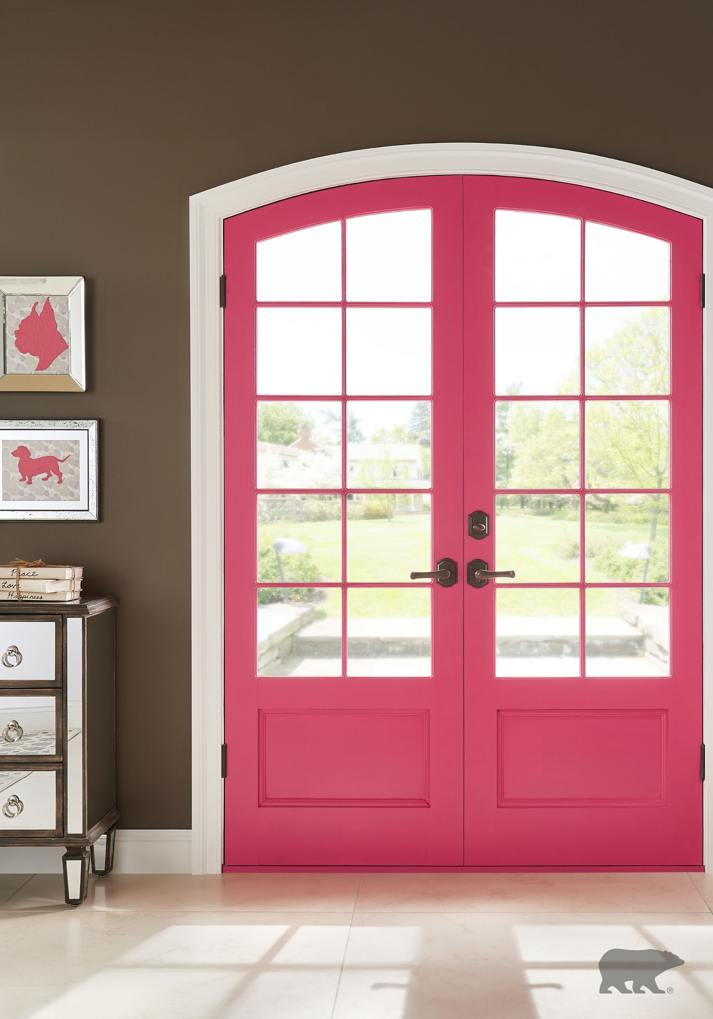 Update your entryway with a bold color from BEHR paint to give your