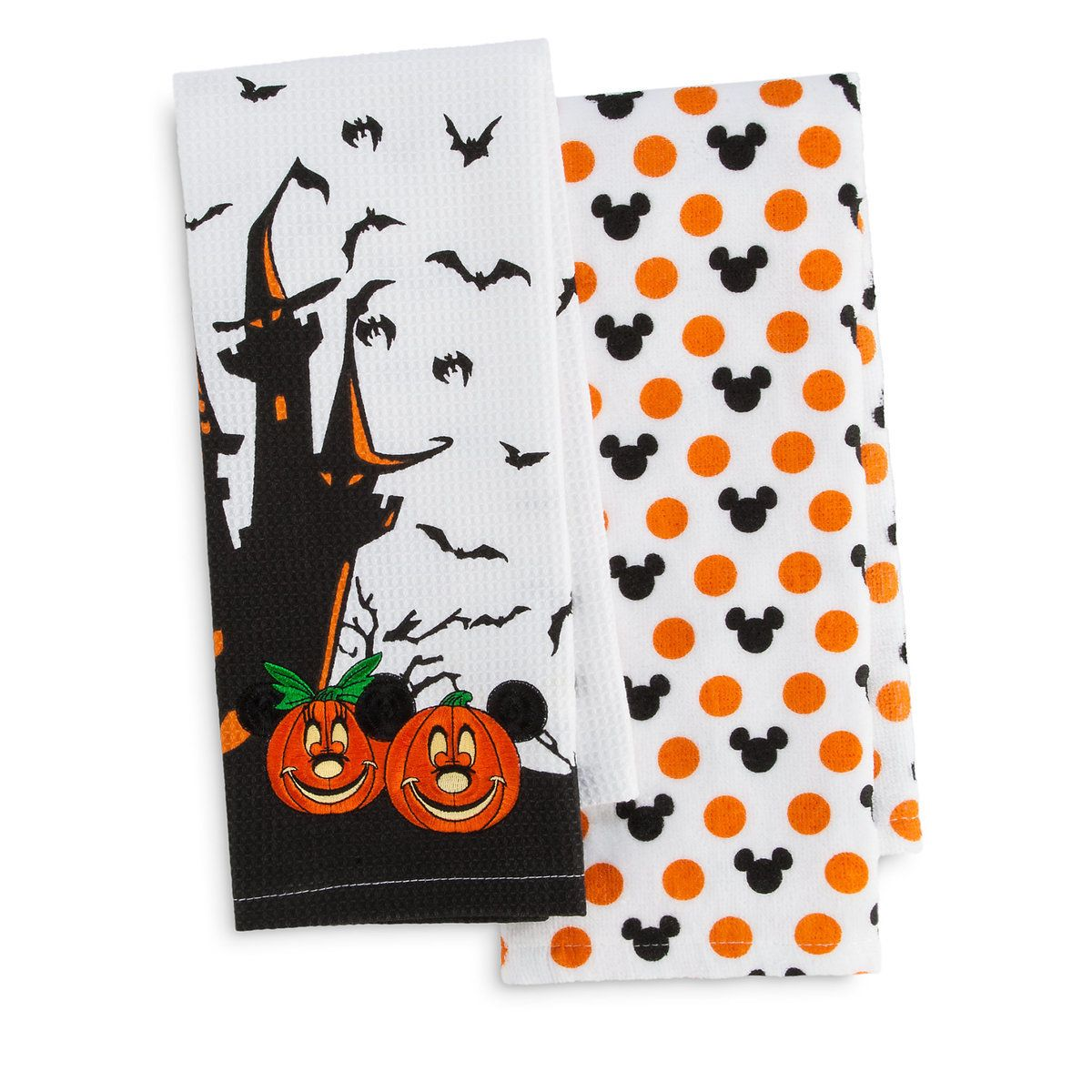 Mickey and Minnie Mouse Halloween Kitchen Towel Set -Appliances - Minnie Mouse Halloween Decorations