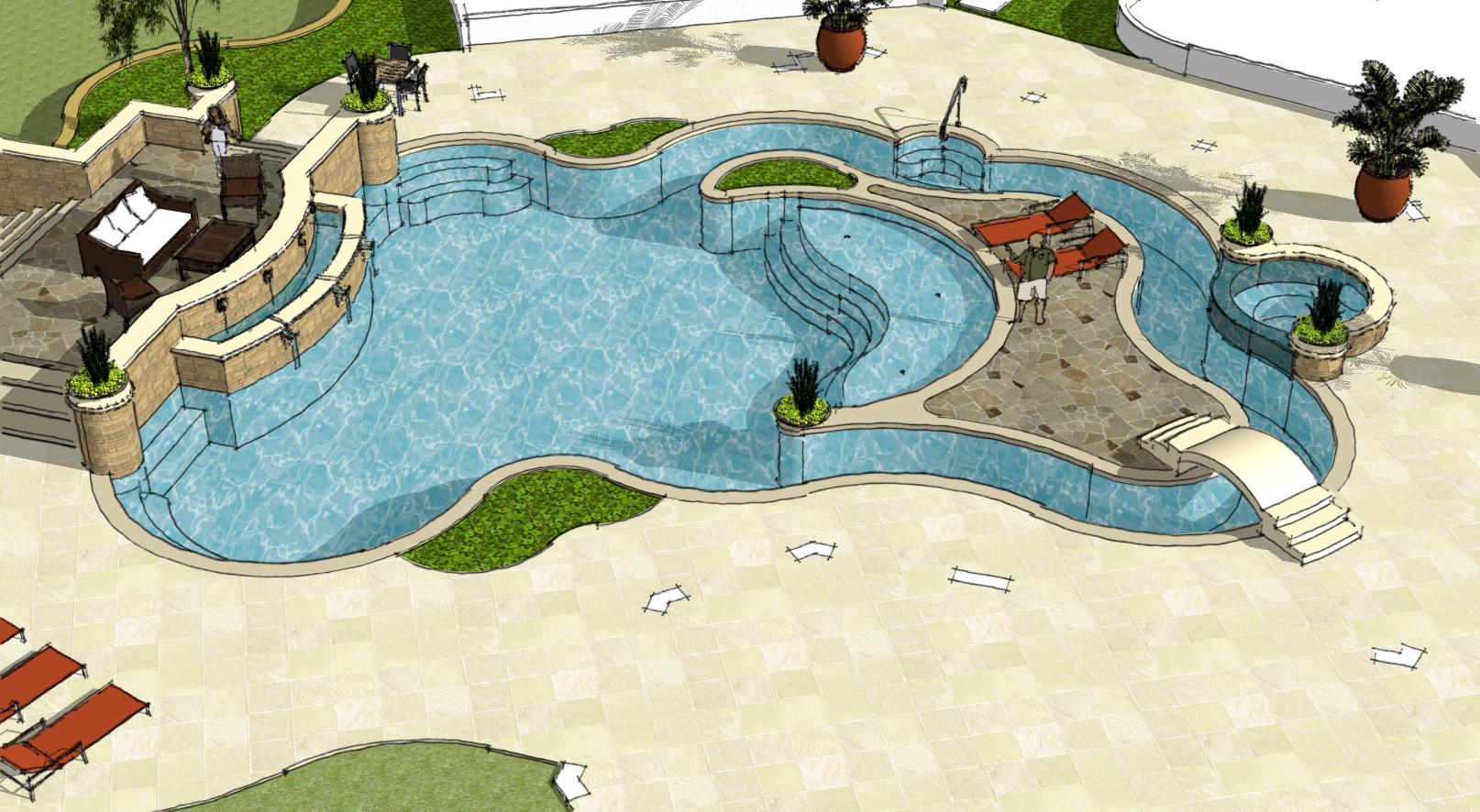 Planning Designs Liquid Extreme Pools Spas Inc Plan Design Spa Pool Design