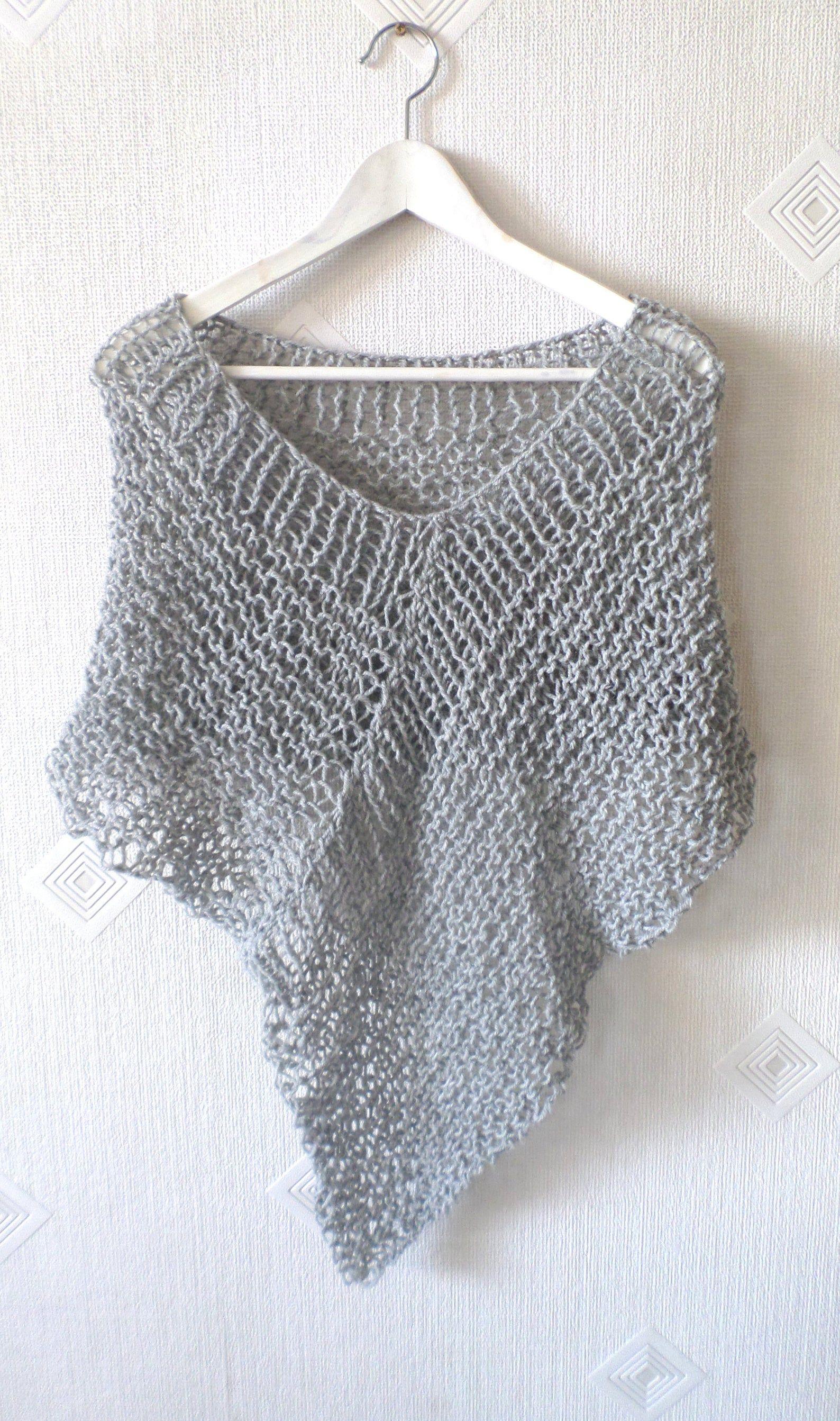 Poncho de punto envoltura de punto poncho de lana ropa de