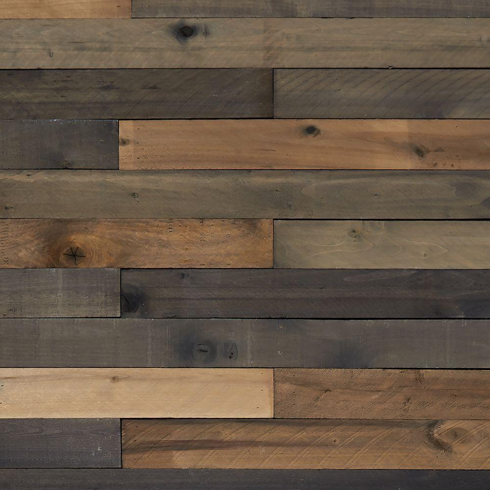 Weaber Weaber 1 2 In X 4 In X 4 Ft Weathered Hardwood Board 8 Piece 27862 The Home Depot In 2020 Weathered Wood Wall Wood Plank Walls Wooden Wall Design