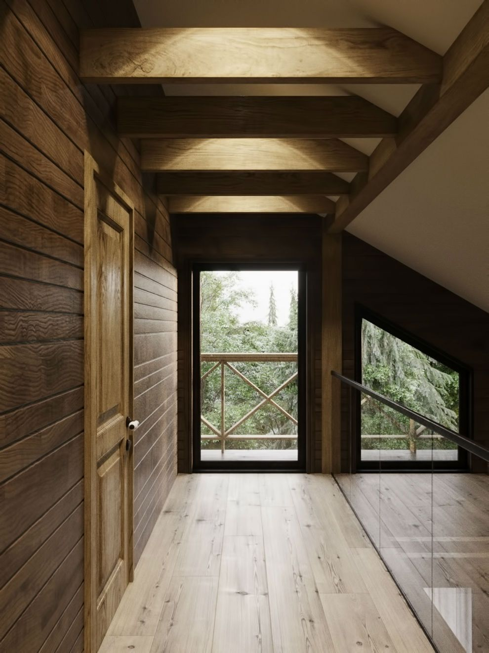 Landhaus im Chalet-Stil von Dmitriy Kurilov \