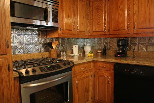 Tin Backsplash Tiles New Brown Metal Modern Kitchen Backsplash Tiletin Kitchen Backsplash Design Decoration
