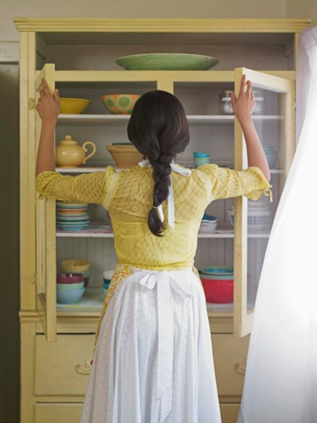 How to Get a Musty Smell Out of Cabinets | Old kitchen ...