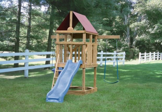 Compact scout hideout swing set | Lancaster and York, PA