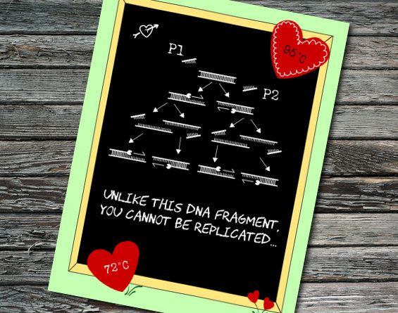 PCR of Love Nerdy Science Anniversary Love Valentines Day – Chemistry Valentines Day Card