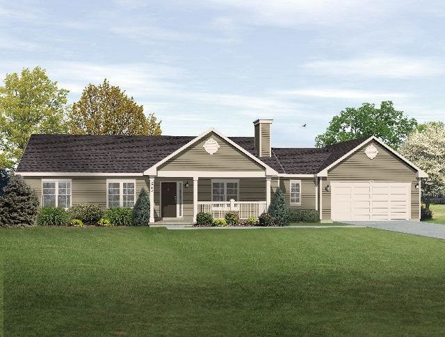 Ranch home designs ranch walkout basement house plans for Big ranch house plans