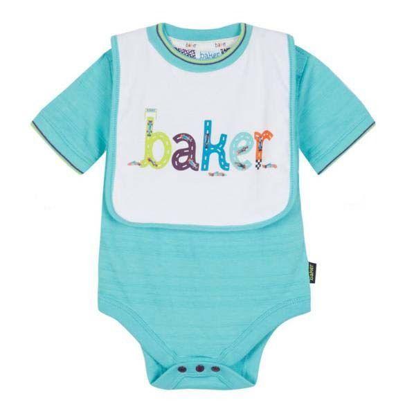 46d4e0426fd67d Ted Baker Baby Boys Romper Vest Bodysuit Bib Green Designer 12-18 Months