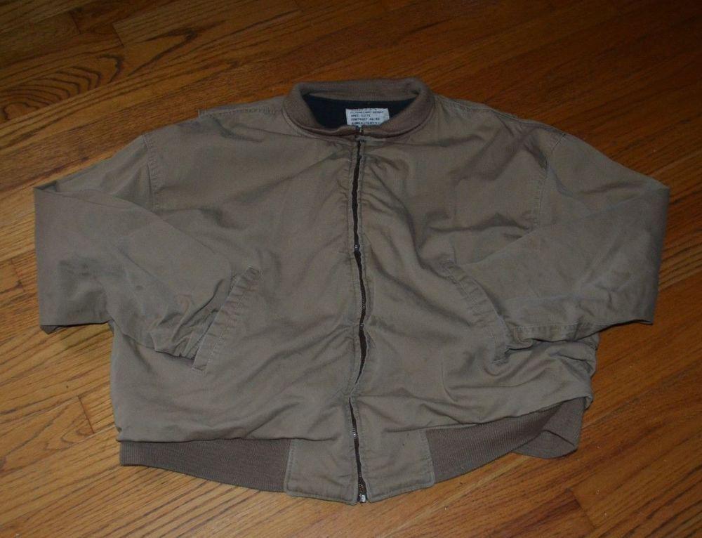 U.S.N. Avirex Ltd. Lightweight Flight Flyers Jacket Large (L) Beige  #Avirex #FlyersJacket