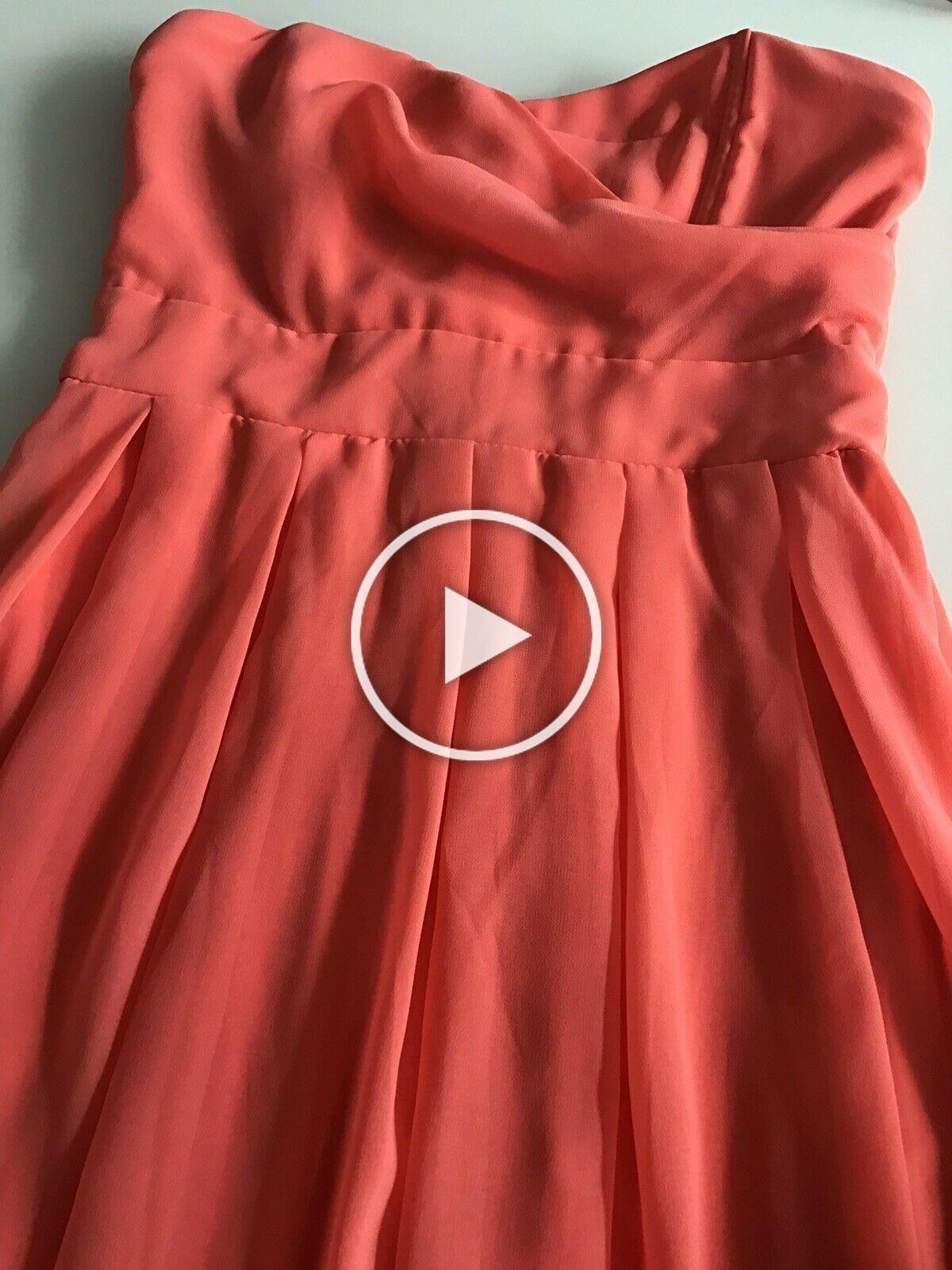 TFNC ladies dress festive salmon / orange size. S Cocktail Dress