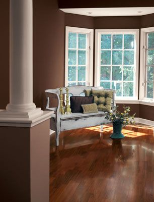 Create An Elegant Look Using Polished Mahogany Sw 2838 Living Room Paint Color Inspiration Paint Colors For Living Room Living Room Colors