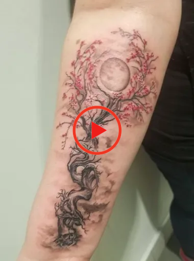 Awesome Cherry Blossom Tattoo Designs To Inspire You Cherry Blossom Tattoo Floral Tattoo Design Cherry Blossom Tree Tattoo