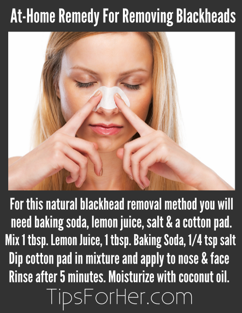 Lime juice and baking soda for blackheads