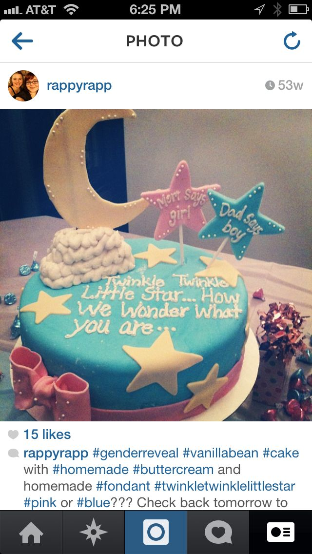 Gender reveille cake #genderreveille