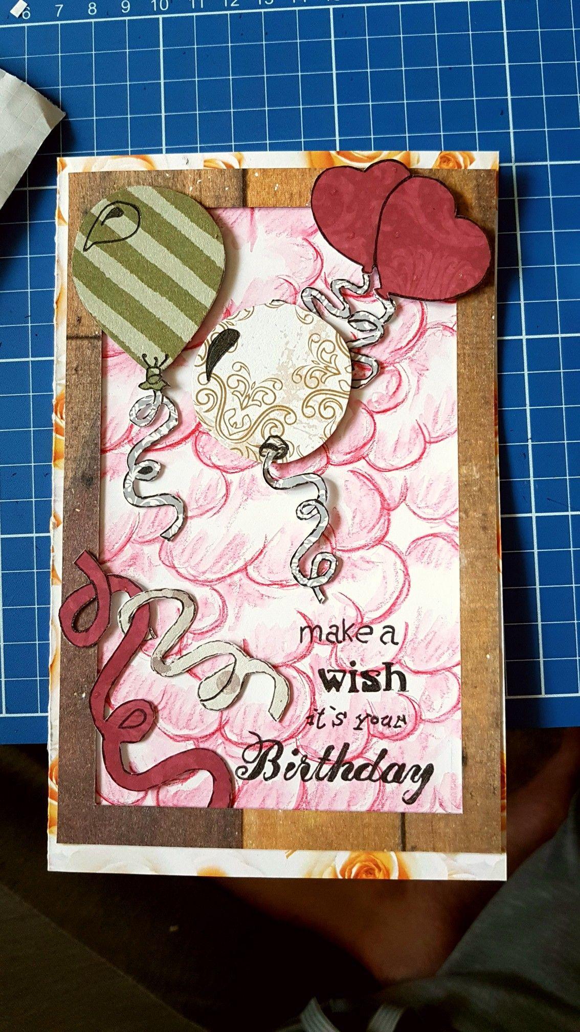 #Geburtstagskarte #selber gebastelt