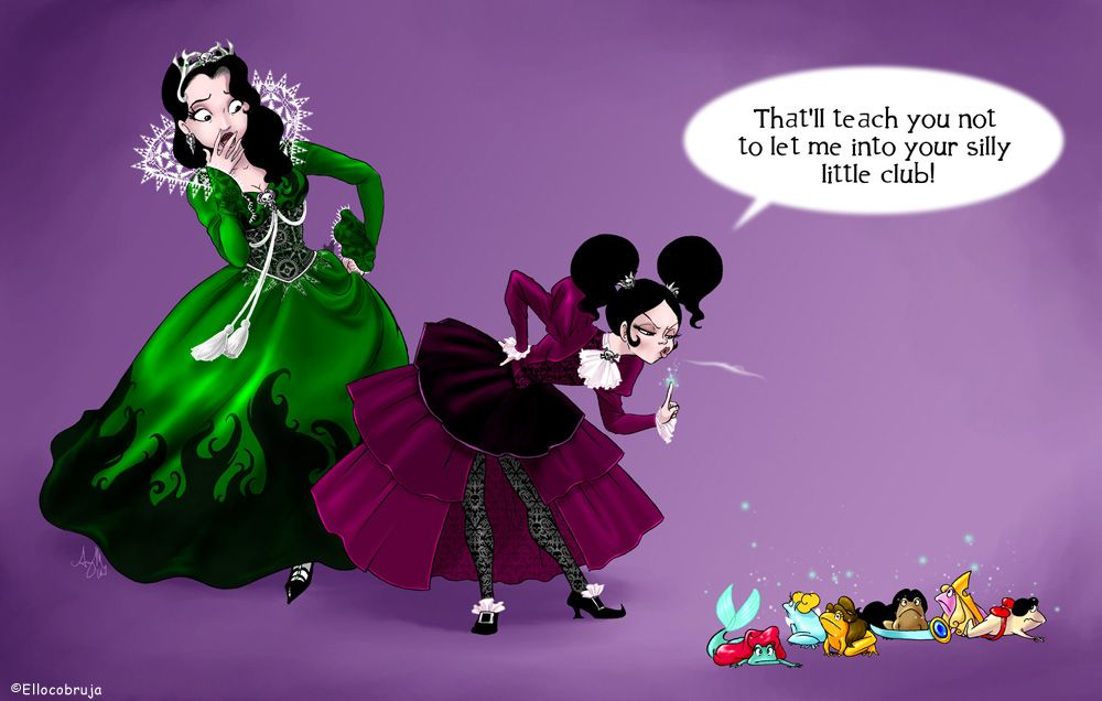 This Is Millicent And Lucinda The Evil Stepsisters I Thought It Was Funny Because The Princesses Are Frogs By Mi Disney Princess Funny Disney Funny Disney