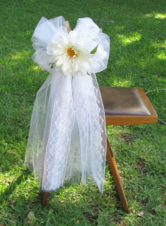 2 Wedding Pew Bows Daisy Bows Wedding Aisle Decor Headtable Decorations Or Wedding Chair Bows Dai Wedding Chair Bows Pew Bows Wedding Wedding Aisle Decorations